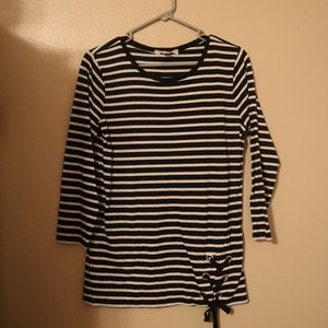 Michael Kors Striped Blouse Medium NWOT